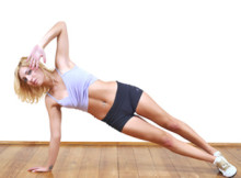 Side-plank-crunch
